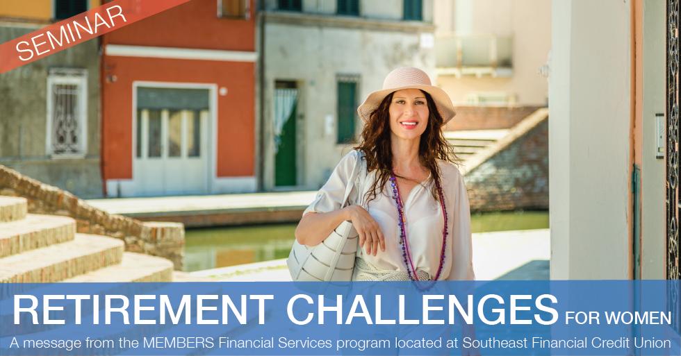 Retirement Challenges for Women Seminars and Webinar