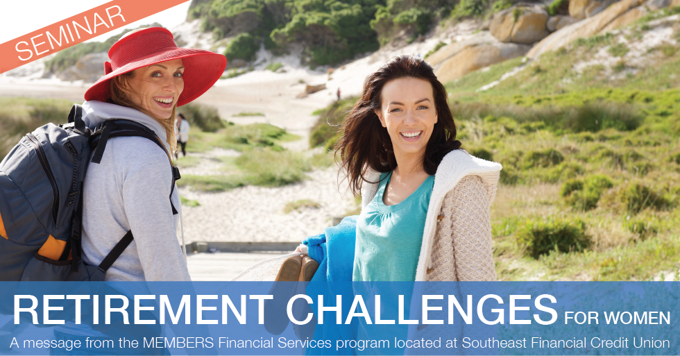 Retirement Challenges for Women Seminars and Webinar