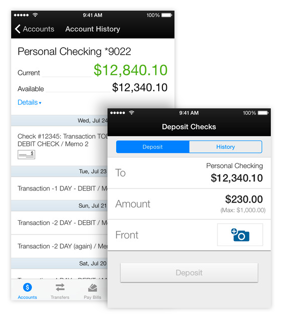 Mobile Banking Screenshots