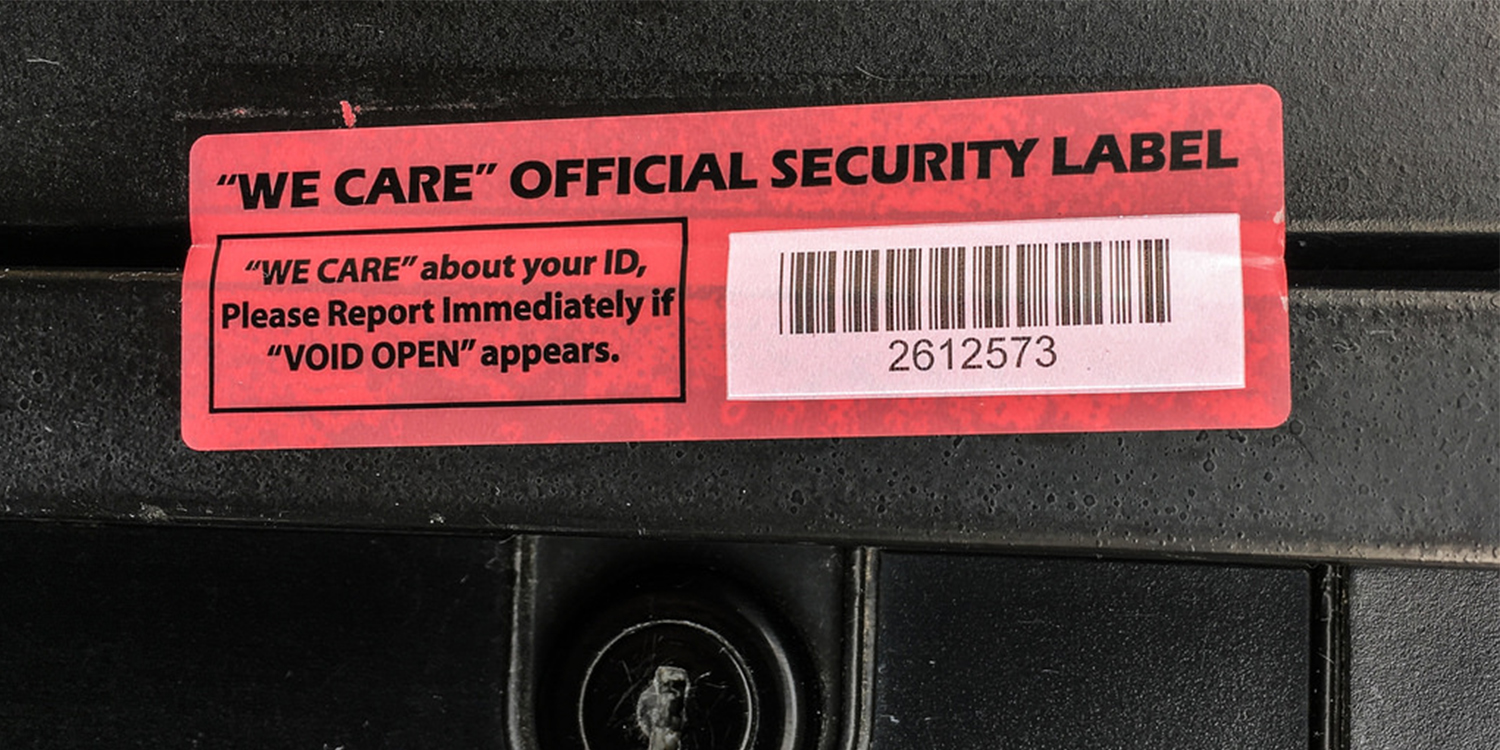 Security Sticker Article